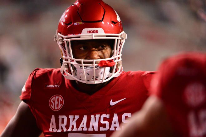 Dorian Gerald is returning to Arkansas for another season.