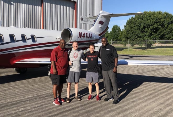 Musselman's first staff at Arkansas–Corey Williams, Clay Moser and Chris Crutchfield.