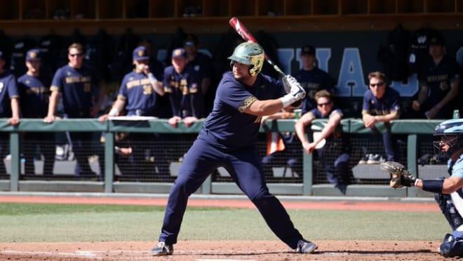 Notre Dame Fighting Irish baseball senior infielder Niko Kavadas