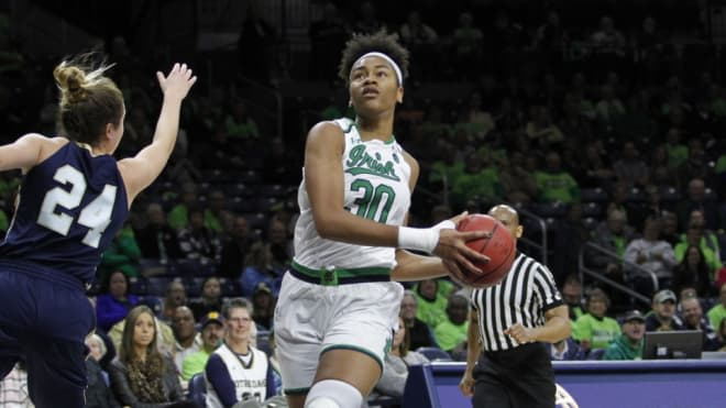 A healthy Mikki Vaughn is crucial to Notre Dame's bounce-back hopes under first-year head coach Niele Ivey.