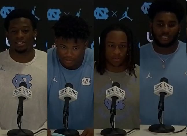 Four defensive Tar Heels met with the media Tuesday evening to field questions about their play and Virginia.