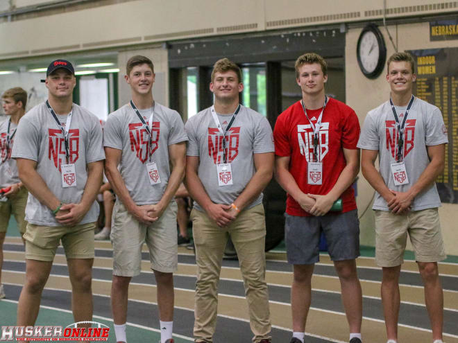 A whopping 10 future Nebraska walk-ons will compete in the 2018 Shrine Bowl of Nebraska on Saturday, including (from left): North Platte tight end Bryson Krull, O'Neill wide receiver Wyatt Liewer, Yutan defensive end Colton Feist, Gretna linebacker Joey Johnson, and Gothenburg wide receiver Bennett Folkers.