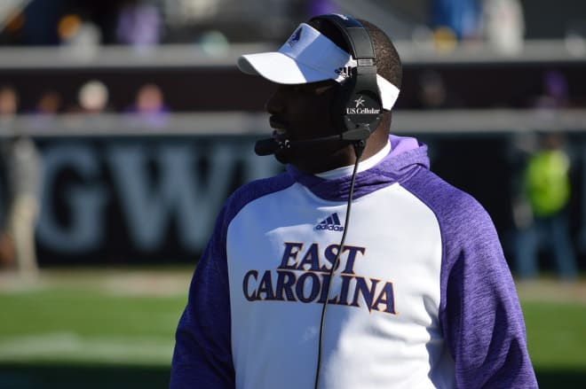 First year ECU head coach Scottie Montgomery is still in search of his fourth win as a Pirate.