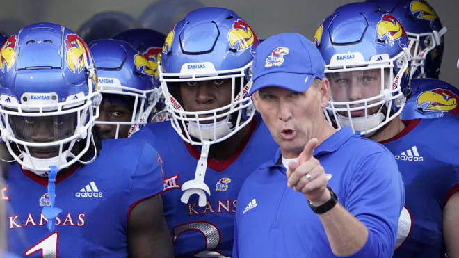 New Kansas coach Lance Leipold coaches his first Big 12 game Saturday against Baylor.