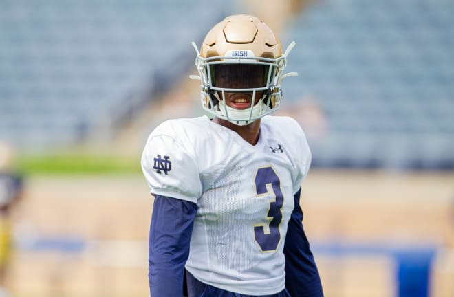 Notre Dame Fighting Irish football rising senior safety Houston Griffith