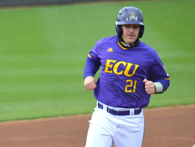 Thomas Francisco knocked a two-run home run in the sixth inning of ECU's Saturday win over Wichita State.