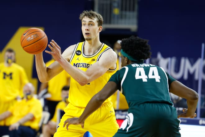 Michigan Wolverines basketball wing Franz Wagner is projected to go top 10 in most mock drafts.