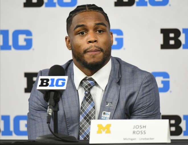 Michigan Wolverines football redshirt junior linebacker Josh Ross was an All-Big Ten honorable mention in 2018.