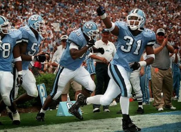 Bly (31) is one of the best football players ever at UNC.