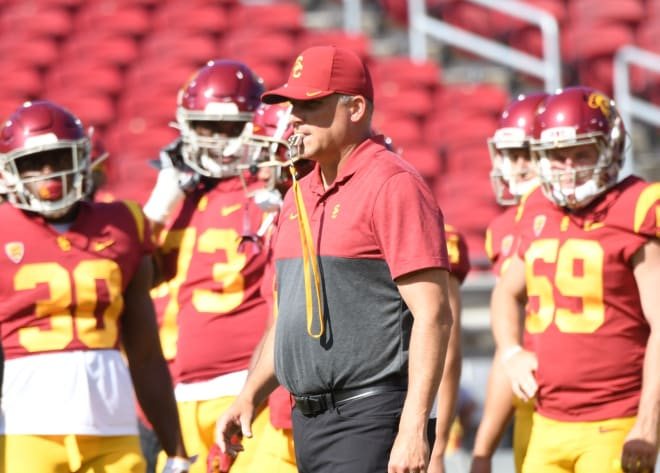 Trojansports Clay Helton Discusses His First Meeting With New Usc Ad Mike Bohn