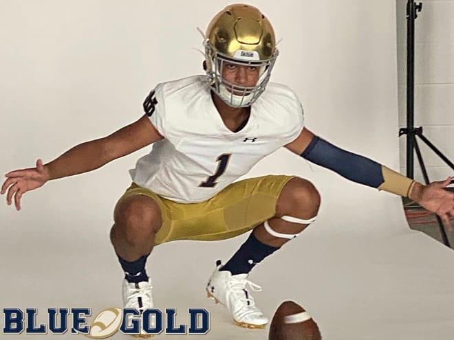 Notre Dame Fighting Irish football recruiting target and 2024 quarterback Austin Mack