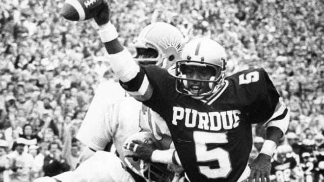Everett Pickens found the end zone often in his two-year Boilermaker career in 1981 and '82.
