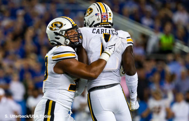 Missouri safety Jaylon Carlies has forced three turnovers in the team's first two games.