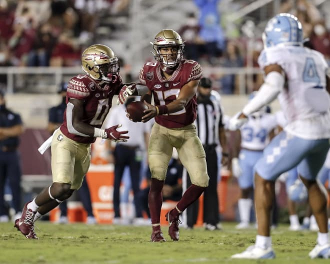 Florida State quarterback Jordan Travis finished with a team-high PFF grade of 83.9