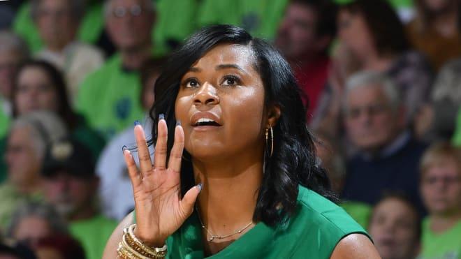 Notre Dame Fighting Irish women's basketball head coach Niele Ivey