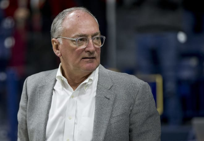 Notre Dame Fighting Irish director of athletics Jack Swarbrick