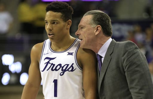 Desmond Bane scored 24 points as the Frogs rolled to a 100-63 win
