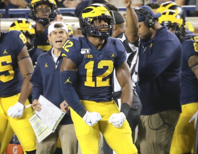 Michigan Wolverines football linebacker Josh Ross notched 1.5 tackles for loss last season.