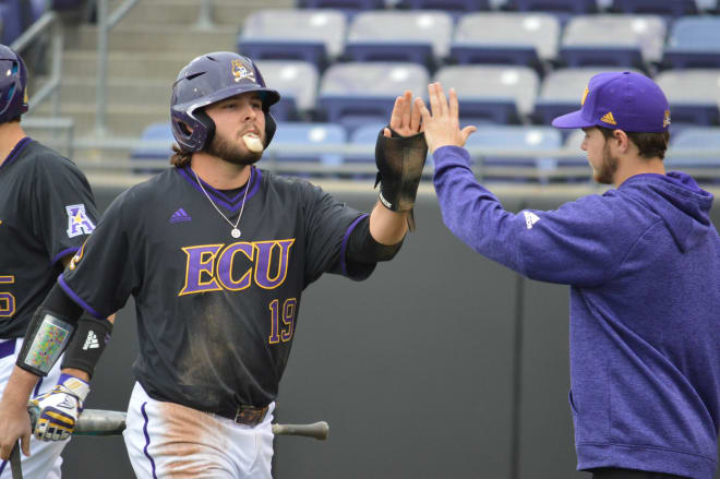 Alec Burleson's sixth inning homer highlighted ECU's 5-3 victory over Elon Wednesday afternoon in Greenville.