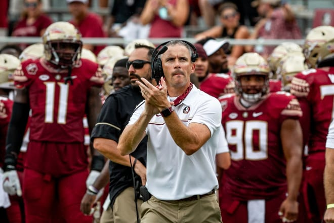 Head coach Mike Norvell debuted with a 3-6 mark during a turbulent season at Florida State last year.