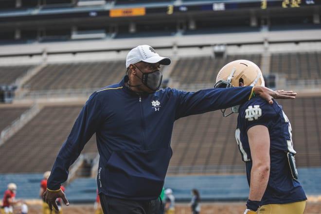 Notre Dame Fighting Irish football wide receiver coach Del Alexander