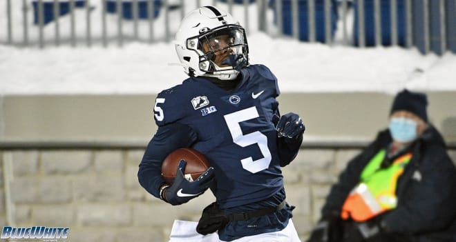 Penn State Nittany Lions football wide receiver Jahan Dotson.