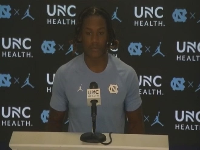 DJ Jones was one of six Tar Heels that spoke to the media about the upcoming game versus Miami.