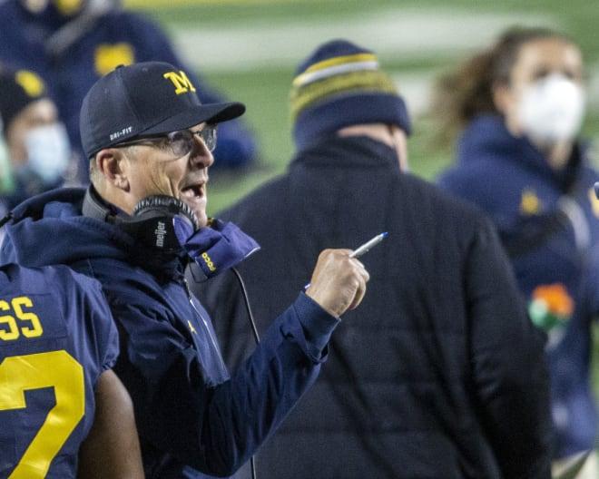 Michigan Wolverines football coach Jim Harbaugh