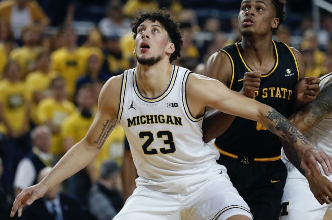 Michigan Wolverines basketball junior forward Brandon Johns started 11 games last year due to injuries to others.
