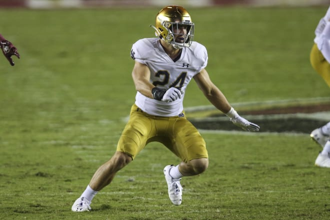 Notre Dame Fighting Irish football junior linebacker Jack Kiser