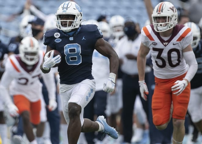 Michael Carter and the Tar Heels are streaking up the rankings ladder in 2020.