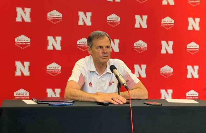 Nebraska volleyball head coach John Cook