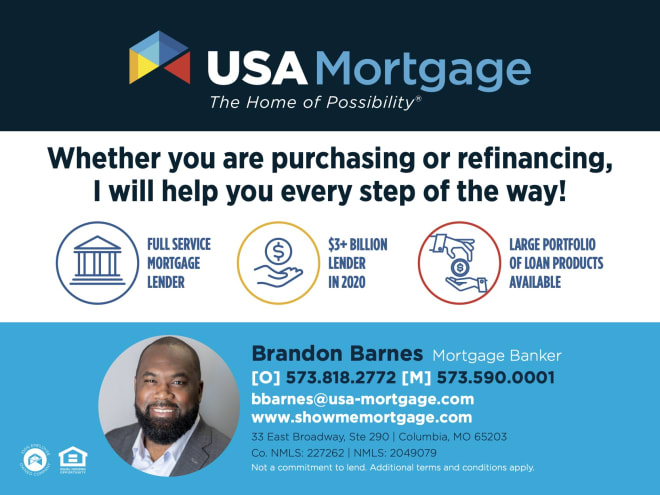 Click here to hook up with former Mizzou Tiger Brandon Barnes for all your mortgage needs