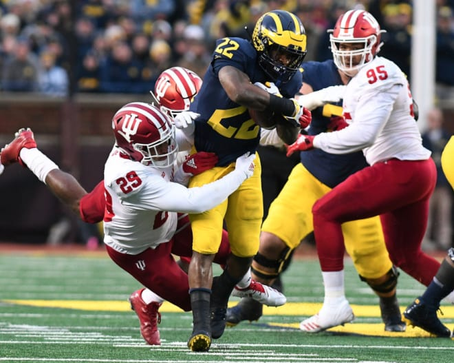Higdon became Michigan's first 1,000-yard running back Fitzgerald Toussaint rushed for 1,041 yards in 2011.