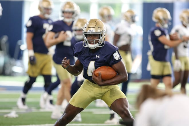 Notre Dame wide receiver Kevin Austin Jr. hopes to finally stay healthy and be a go-to target for the Irish.