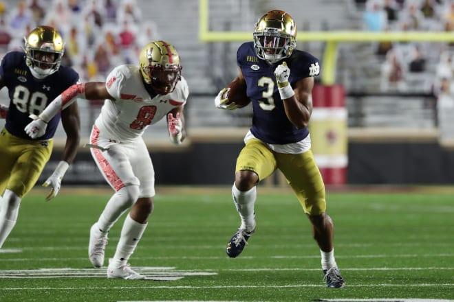 Notre Dame Fighting Irish football senior wide receiver Avery Davis