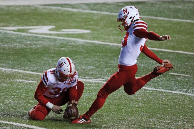 Nebraska kicker Connor Culp