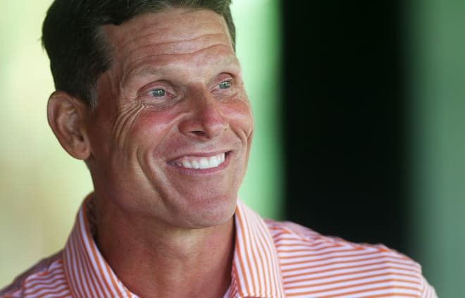 Venables is shown here at The Reserve on Lake Keowee at the Dabo Swinney Media Golf Outing last July.