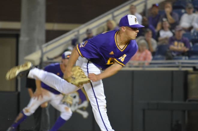 Jake Kuchmaner and ECU pick up a 5-3 senior night win over Memphis in Clark-LeClair Stadium to win the series.