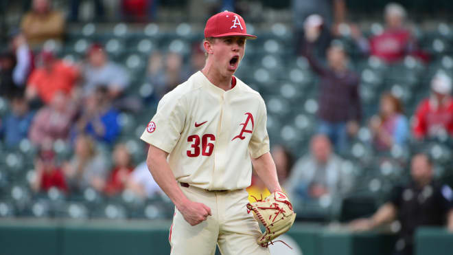 Peyton Pallette is one of several pitchers still vying for a spot in Arkansas' weekend rotation for 2021.