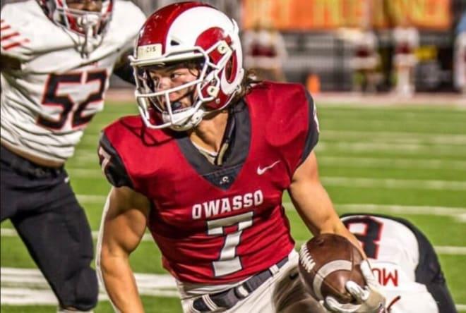 2023 Owasso (OK) receiver Cole Adams.