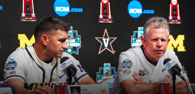 Coaches Erik Bakich and Tim Corbin discuss the upcoming CWS final.