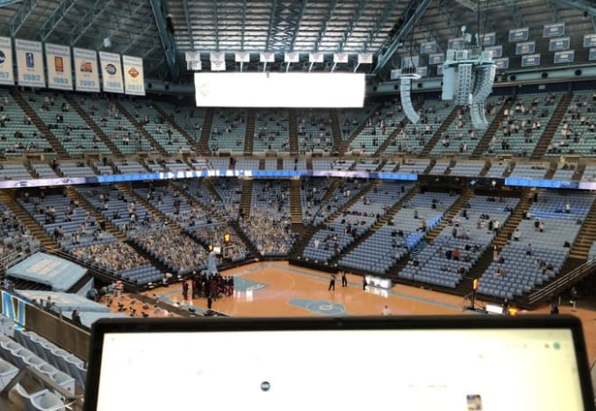 A view from press row at the Smith Center on Saturday just prior to tip off.