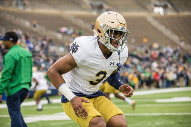 Notre Dame rising senior safety Houston Griffith