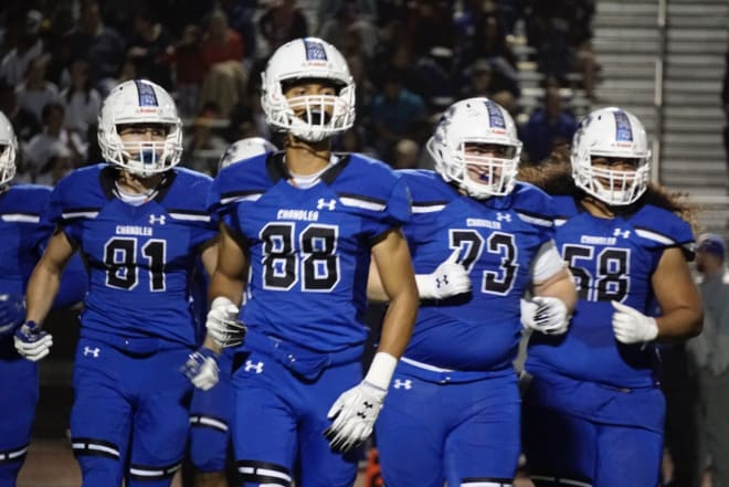 Chandler's all-blue with white helmets is Zach Alvira's pick for the best in the state