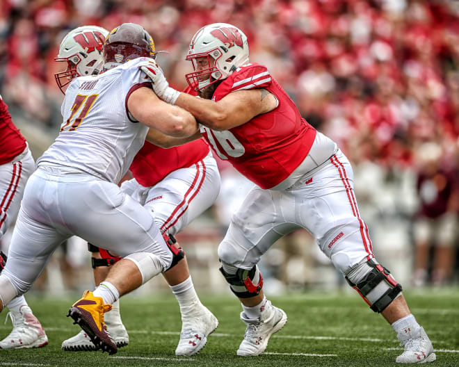 Kayden Lyles is expected to start at center for Wisconsin.