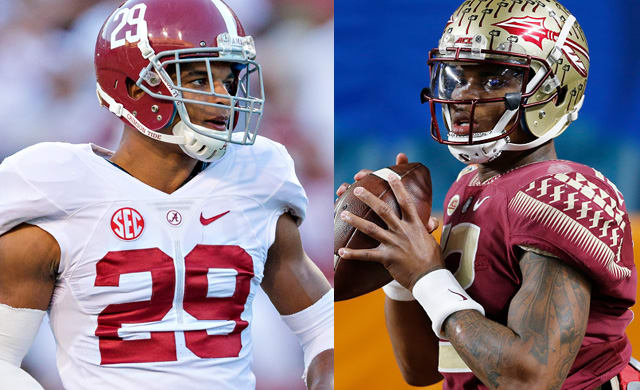Alabama's Minkah Fitzpatrick (left) recorded 66 tackles and 6 ints in 2016. Florida State QB Deondre Francois threw for 3,350-yards and 20 touchdowns last season.