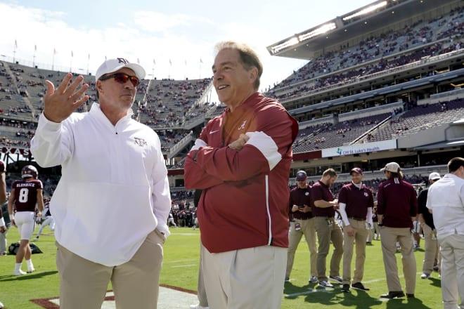 Jimbo Fisher and Nick Saban