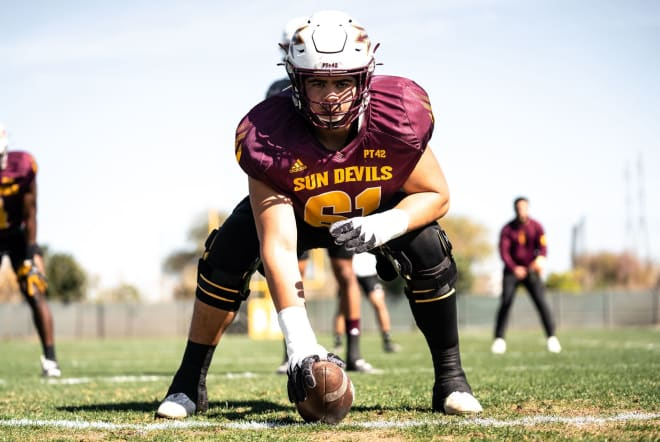 In his third year at ASU Dohnovan West's role comes full circle starting at center (Sun Devil Athletics Photo)