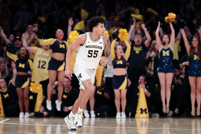 Michigan Wolverines basketball senior Eli Brooks scored in double figures 13 times last year.